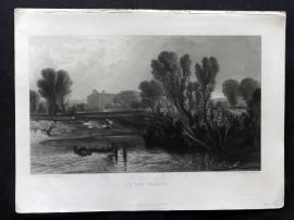 After J. M. W. Turner C1860 Art Journal Print. On the Thames